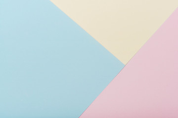 Color paper geometric flat lay background