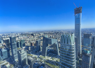 World Trade Center Z15 Towers Skyscrapers Guomao District Beijing China