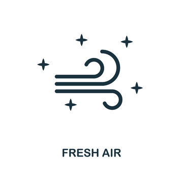 Fresh Air icon. Line style icon design from cleaning icon collection. UI. Illustration of fresh air icon. Pictogram isolated on white. Ready to use in web design, apps, software, print.