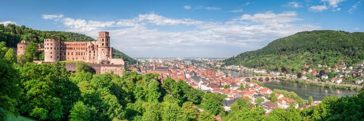 Heidelberg Panorama mit Altstadt und Schloss