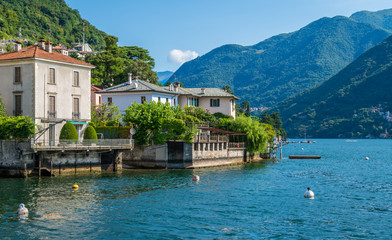 Scenic sight in Laglio, village on the Como Lake, Lombardy, Italy.
