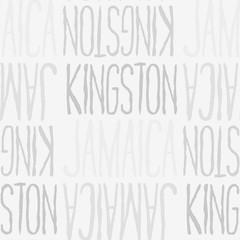 Kingston, Jamaica seamless pattern