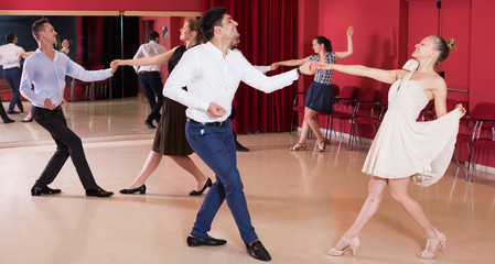 People dancing lindy hop