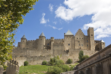 The fortified medieval town of Carcassonne in South France. Unesco World Heritage Site.