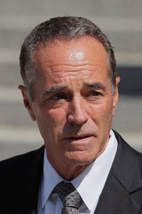U.S. Rep. Christopher Collins (R-NY) departs the Thurgood Marshall United States Courthouse following his arraignment on insider trading charges in New York