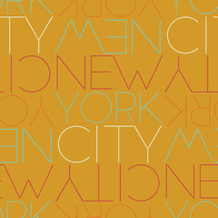 New York City, USA seamless pattern