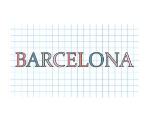 barcelona concept- vector illustration