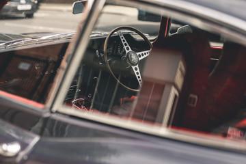 Fond de hotte en verre imprimé Vintage voitures Vintage sports car interior