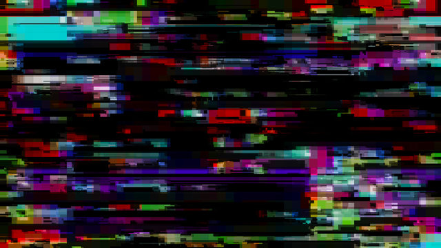Glitch effect. Computer screen error. Error Video. Abstract Digital Pixel Noise. TV signal fail. Glitch background.