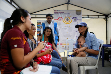 U.S. Ambassador to the United Nations Nikki Haley visits a shelter for Venezuelan migrants, in Cucuta