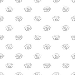 Chandelier icon in outline style isolated on white background. Illumination symbol