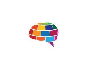 Brain symbol illustration