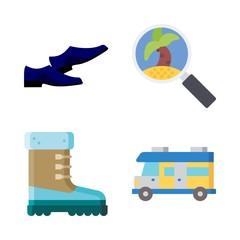 4 summer icons set