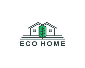 eco home logo template vector illustration