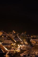 京都府 美山かやぶきの里 ライトアップ