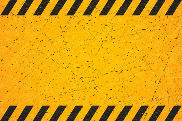 A Worn Black Striped Rectangle. Scratched Blank Warning Sign. Vector illustration.