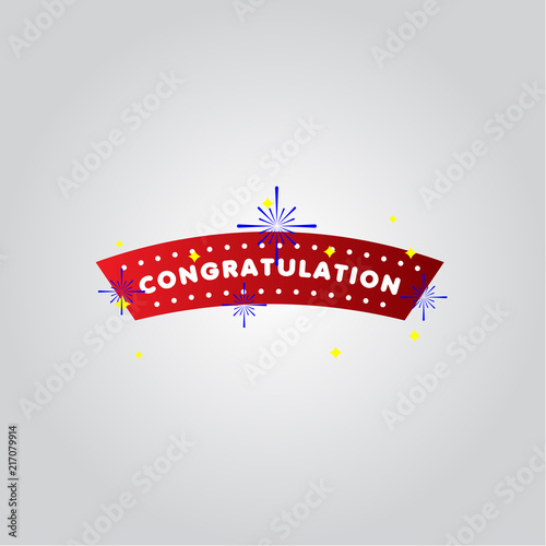 congratulation vector template design illustration stock image and