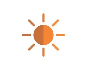 sun symbol solar energy bright image vector icon logo