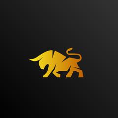 bull logo icon concept vector design