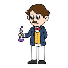 Cartoon Male Victorian Scientist