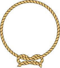 Círculo de corda com laço