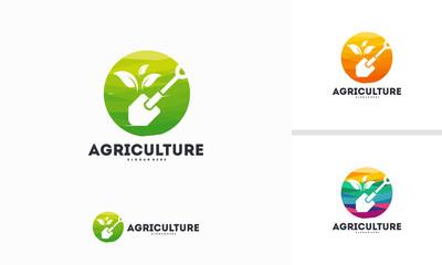 Abstract Circle Agriculture logo designs concept vector, Nature logo template