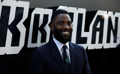 "Cast member Washington poses at the premiere for ""BlacKkKlansman"" in Beverly Hills"