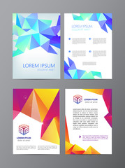 vector flyer, purple brochure abstract design 2 sides,