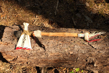Tomahawk axe made of bone