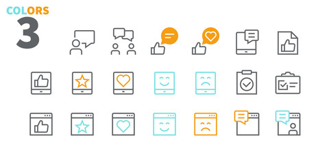 Emotions UI Pixel Perfect Well-crafted Vector Thin Line Icons 48x48 Ready for 24x24 Grid for Web Graphics and Apps with Editable Stroke. Simple Minimal Pictogram Part 5-5