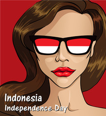 Indonesia Independence day. Indonesia flag. 17 th of August