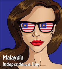 Malaysia Independence day. Malaysia flag. 31 th of August