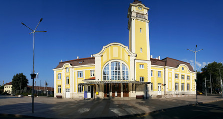 Railway station in Burgas, Bulgaria