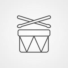 Drums vector icon