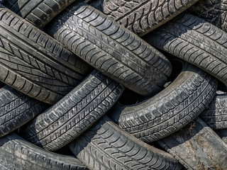 Old and worn tires