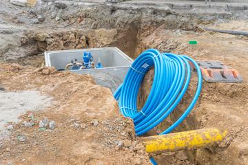 Erneuerung der Wasserleitung in einer Strasse