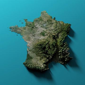 Carte de France relief