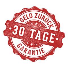 30 Tage Geld zurück Garantie Siegel/Stempel