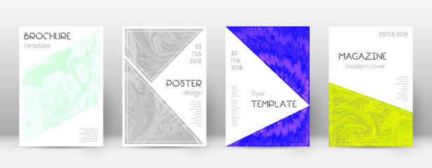 Abstract cover. Terrific design template. Suminagashi marble triangle poster. Terrific trendy abstra