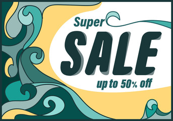 Super sale template banner special discount up to 50% off,vector illustration design,eps10.