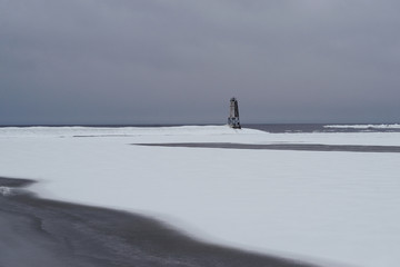Breakwater in Winter