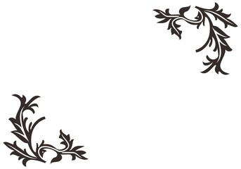 Floral Background Element Logo Vector