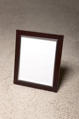 empty white photo frames
