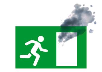 fire exit shield - smoke