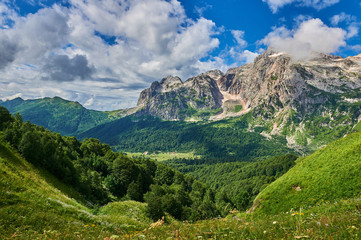 The Caucasus mountains in Russia Wall mural