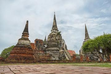 Wat Phrasisanpetch in Ayutthaya Province, Thailand.