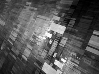 Abstract flying rectangles black and white effect