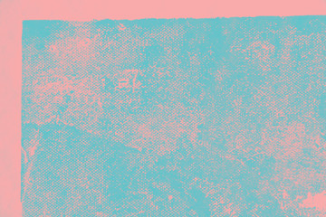 blue and pink hand painted brush grunge background texture