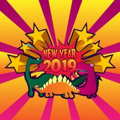 new year 2019 text illustration