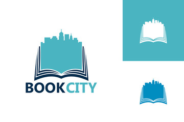 Book City Logo Template Design Vector, Emblem, Design Concept, Creative Symbol, Icon